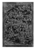 Paris Map Reproduction d'art par GI ArtLab
