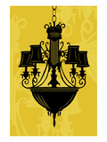 Chandelier 5 Yellow