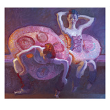 Seated Dancers in Rose
