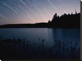 Star Trails at Head Lake  Algonquin Park Canada