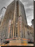 Radio City Yellow, New York City Tableau sur toile par A.J. Messier
