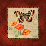 Butterfly & Poppies