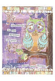 Pastel Owl Family 4 Go Confidently