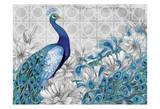 Monochrome Peacocks Grey