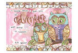 Pastel Owl Family 6 I Knew When I Met You An Adventure