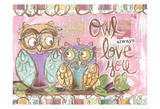 Pastel Owl Family 5 Owl Always Love You