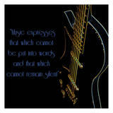Neon Square Music Quote 2