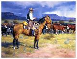 The Great American Cowboy Giclée par Jack Sorenson