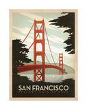 San Francisco : pont du Golden Gate Giclée par Anderson Design Group