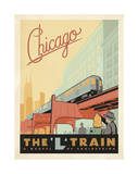 Chicago: The 'L' Train Giclée par Anderson Design Group