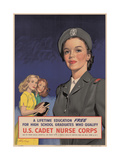 Center Warshaw Collection  Federal Security Agency Poster US CADET NURSE CORPS