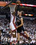Miami  FL - JUNE 9 LeBron James and Tiago Splitter