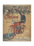 Smithsonian Libraries: Indian Motorcycle Cover Giclée