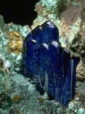 MineralCalendar: Azurite with Malachite Bisbee  Arizona