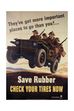 War Information poster, Save Rubber, National Museum of American History, Archives Center Giclée