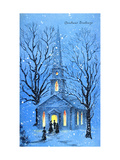 Greeting Card - Churches  Christmas Greetings  National Museum of American History