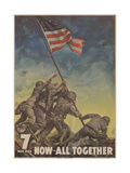 Center Warshaw Collection  Treasury Poster 7th WAR LOAN NOW ALL TOGETHER