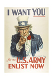 Military and War Posters: I Want YOU for the US Army James Montgomery Flagg