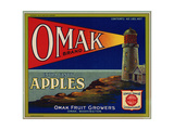 Warshaw Collection of Business Americana Food; Fruit Crate Labels  Omak Fruit Growers