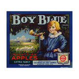 Fruit Crate Labels: Boy Blue Brand Wenatchee Apples; East Wenatchee Fruit Growers