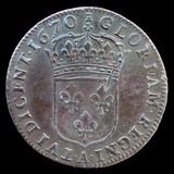 "Coin Minted in Paris for ""New France"" Territories in 1670  National Museum of American History"