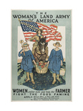 Military and War Posters: The Woman's Land Army of America  1918