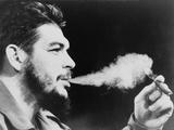 Ernesto 'Che' Guevara Exhaling Plume of Cigar  NYC  1964