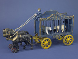 """Royal Circus"" Circus Wagon Cast Iron Toy  Sears Collection  National Museum of American History"