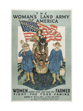 The Woman's Land Army of America poster  Center Princeton University Poster Collectio