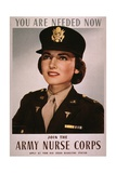 Join the Army Nurse Corps  1943 Recruiting Poster For US Army Nurses