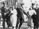 Women Textile Workers Arrested at the Jackson Mill in Nashua  NH  Sept 7  1934