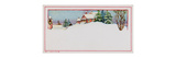 Gift Tag with Winter Scene of Snow Covered House with Chimney  National Museum of American History