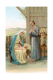 Greeting Cards  Holiday Madonna and Child in stable