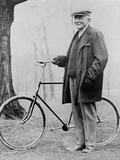 John D Rockefeller 1939-1937 with His Bicycle after His Retirement  1913