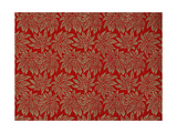 Modern Vogue Decorated Gift Wrapping Papers  Red Background with Gold Glittery Poinsettias