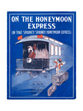 "Sheet Music Cover: ""On the Honeymoon Express"" Music by J Kendis and F Sti"