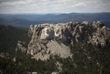 Mount Rushmore with 60-Foot Sculptures of Presidential Heads by Gutzon Borglum