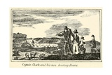 Captain Clark and His Men Shooting Bears  from Expedition Journal  1803-6