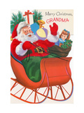 Center Warshaw Collection of Business Americana Series: Christmas Santas  Merry Christmas Grandma