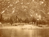 Steam-Powered Sawmill on the Shore of Lake Bennett in the Yukon Territory  1897