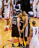 Miami  FL - JUNE 6 Manu Ginobili  Tony Parker and Tim Duncan