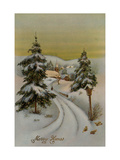 Center Warshaw Collection of Business Americana Series: Christmas Postcards Merry Xmas