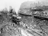 Panama Canal Construction Cutting Through the Continental Divide  1913