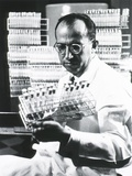 Jonas E Salk Medical Researcher Who Developed the First Polio Vaccine  Ca 1955