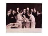 Eugene Louis Doyen Performing Craniotomy While Nine Physicians Observe  1890s