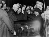 Chief Justice Earl Warren Braves Protesters Against the School Prayer Ruling  1963