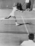Arthur Ashe  Playing Tennis at Forest Hills  NY in 1964