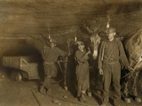 Drivers and Mules with Young Laborers in a West Virginia Coal Mine October 1908