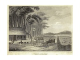 American Stage Wagon Leaving a Tavern  Ca 1800
