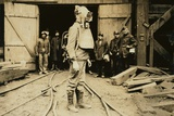 Man Equipped with Draeger Oxygen Helmet  About to Enter a Coal Mine in Pennsylvania January 1911
